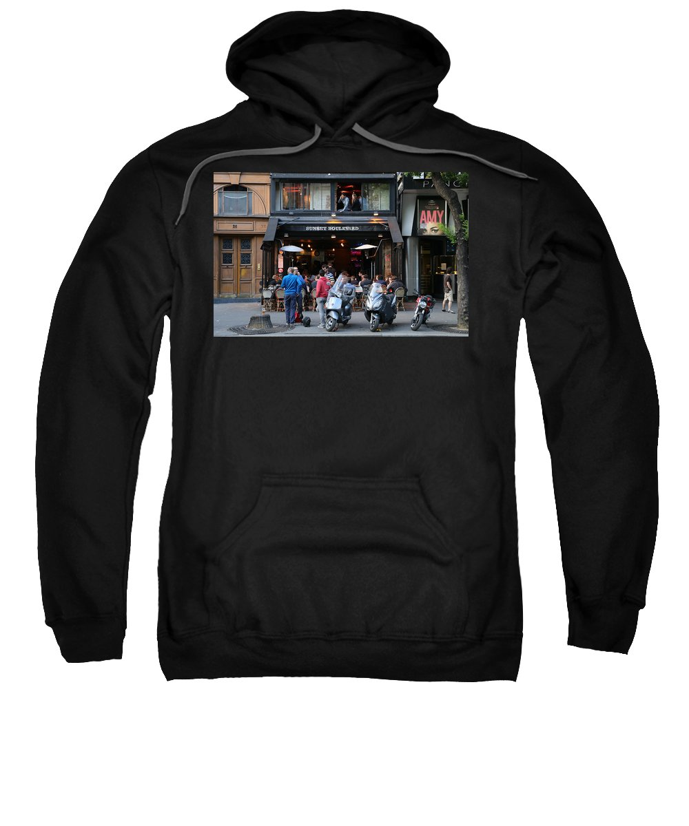 Paris Sweatshirt featuring the photograph Paris Street Life 4 by Andrew Fare
