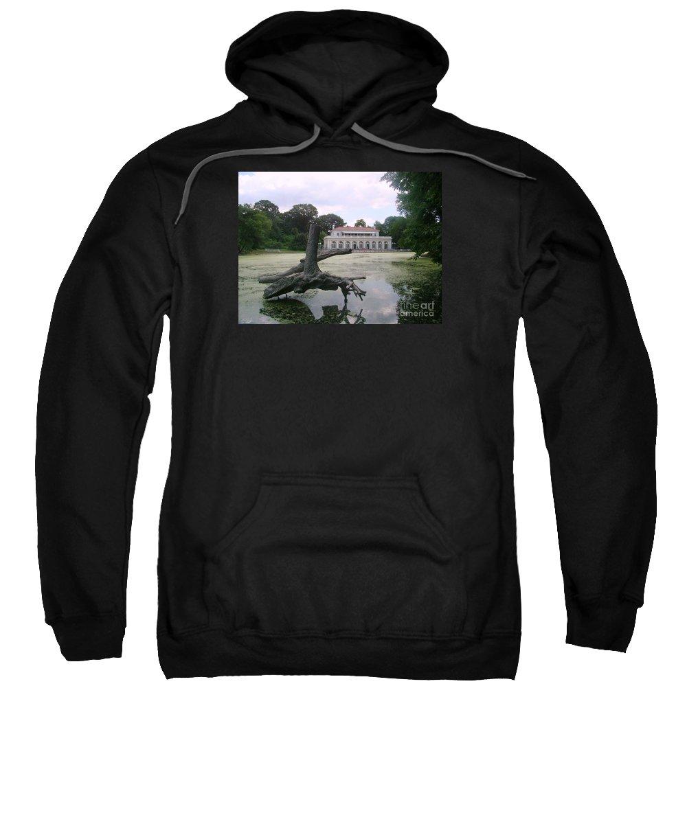 Prospect Park Sweatshirt featuring the photograph Park House by Sergey Sogomonyan