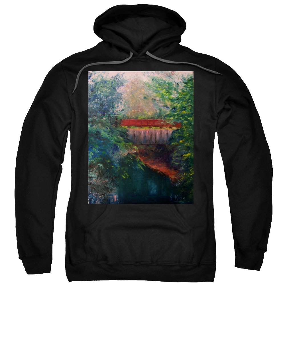 Landscape Sweatshirt featuring the painting Parke County by Stephen King
