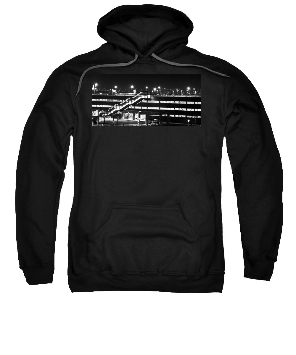 Stairs Sweatshirt featuring the photograph Parking Garage At Night by Angus Hooper Iii