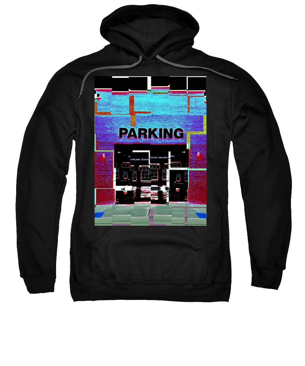 Parking Lot Sweatshirt featuring the digital art Parking by Tim Allen