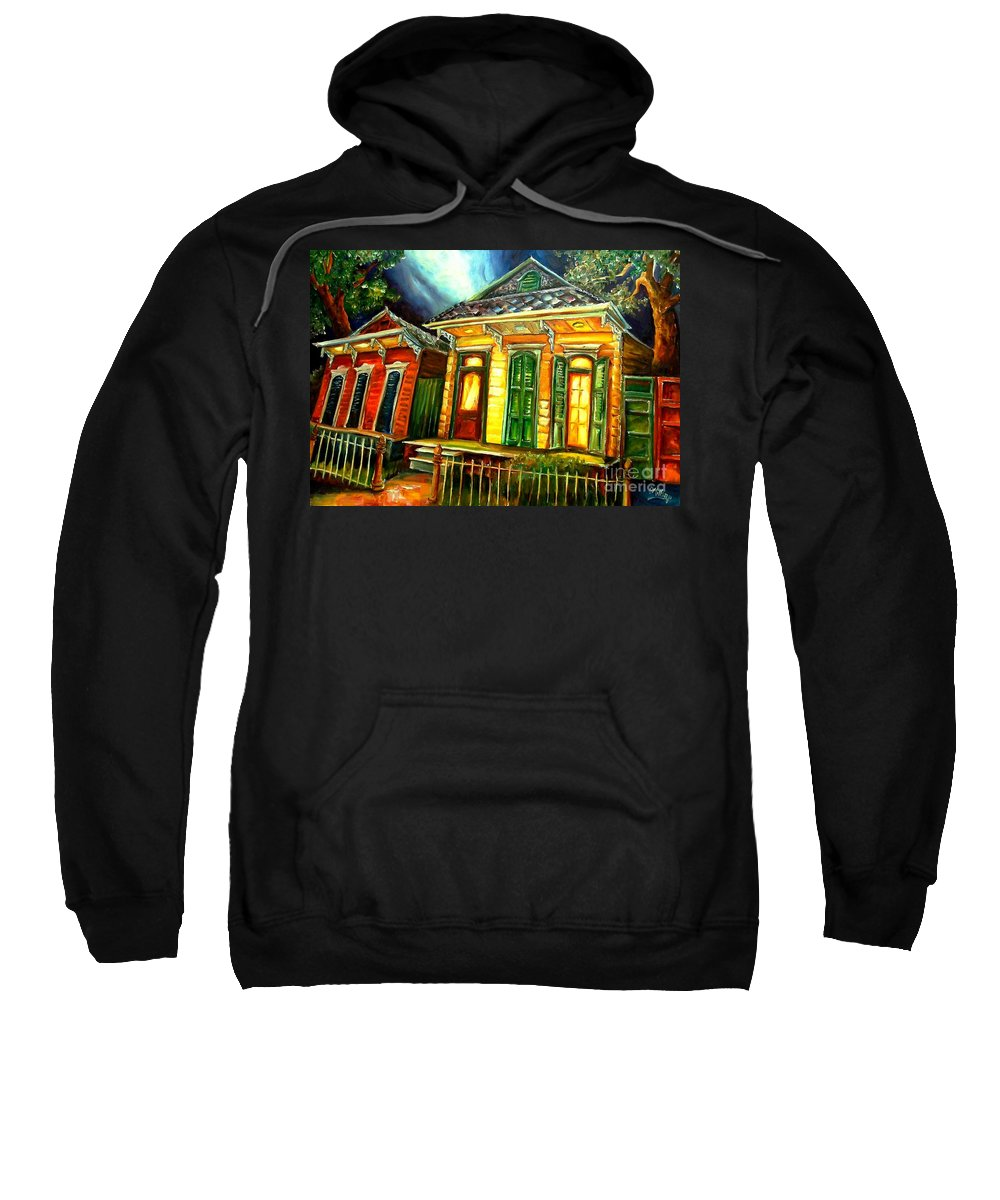 New Orleans Sweatshirt featuring the painting Partners by Diane Millsap