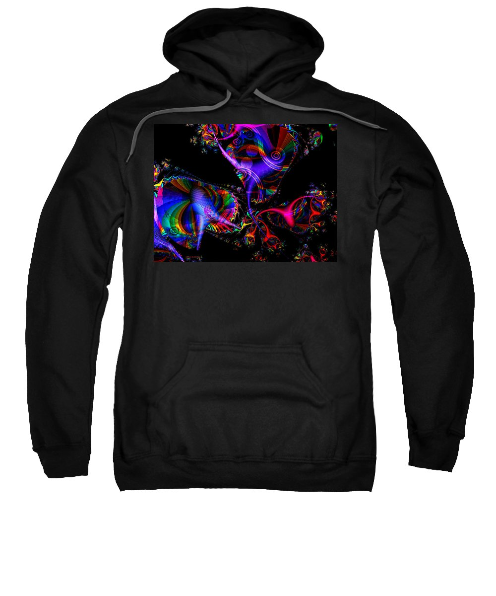 Colorful Sweatshirt featuring the digital art Party All The Time by Claire Bull