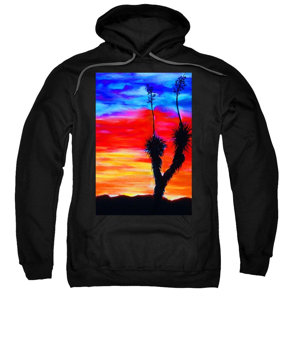 Sunset Sweatshirt featuring the painting Paso Del Norte Sunset 1 by Melinda Etzold