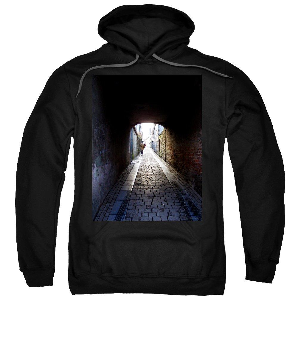 Cooblestone Sweatshirt featuring the photograph Passage by Tim Nyberg