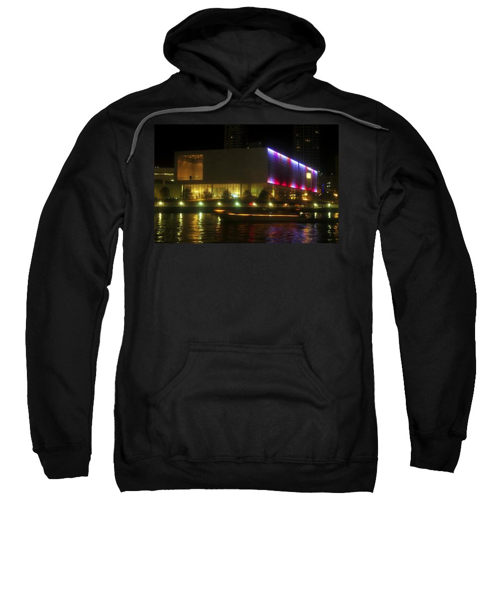 Tampa Bay Art Center Sweatshirt featuring the photograph Passing Boat by David Lee Thompson