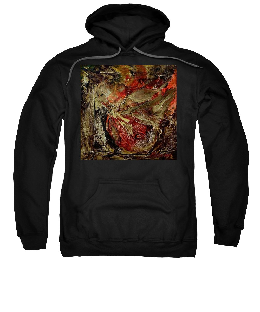 Abstract Sweatshirt featuring the painting Passion  by Rome Matikonyte