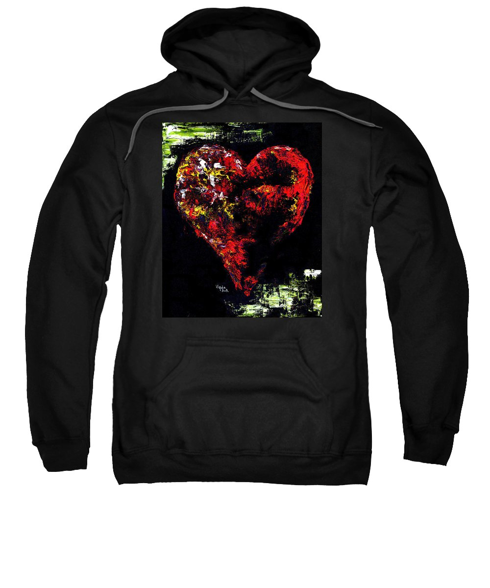Heart Sweatshirt featuring the painting Passion by Hiroko Sakai