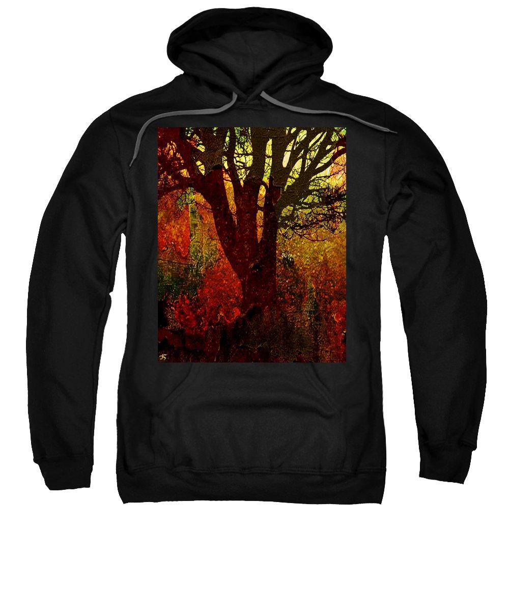 Tree Sweatshirt featuring the digital art Past Life by Ken Walker