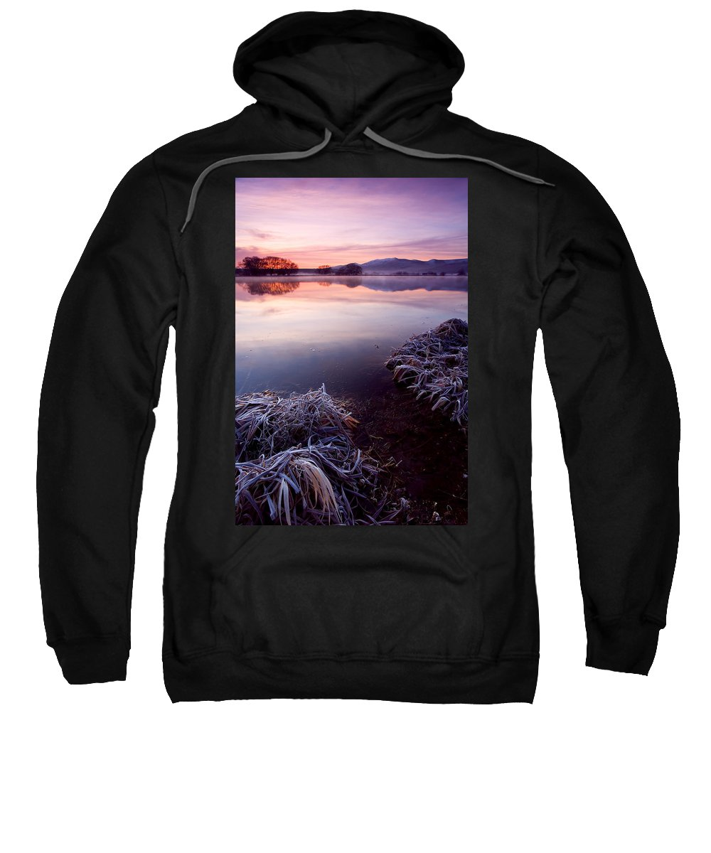 Lake Sweatshirt featuring the photograph Pastel Dawn by Mike Dawson