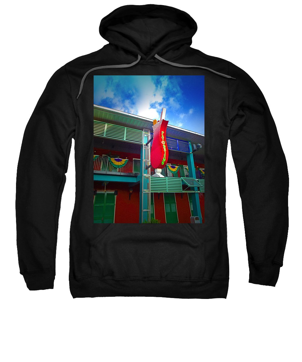 Restaurant Sweatshirt featuring the photograph Pat O'briens by Gary Adkins