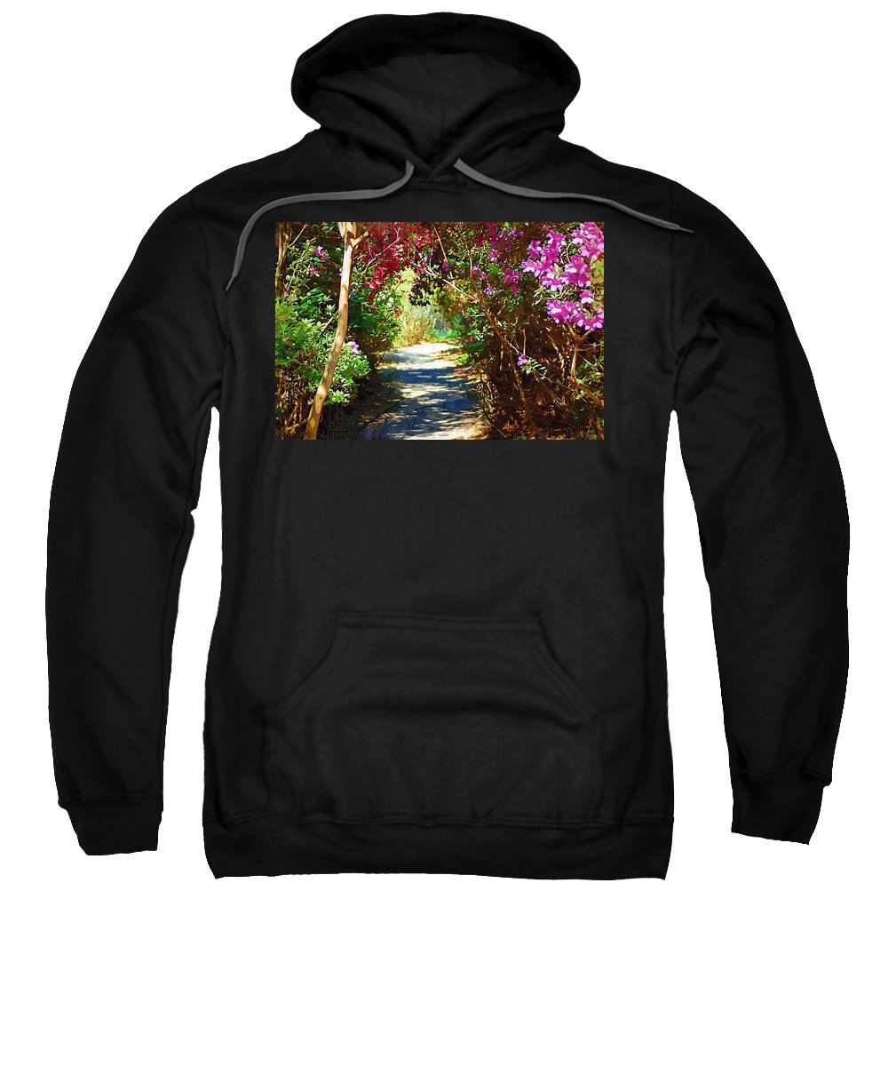 Landscape Sweatshirt featuring the digital art Path To The Gardens by Donna Bentley