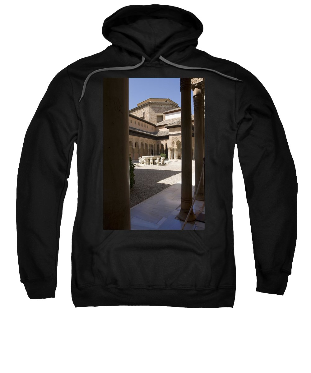 Patio Sweatshirt featuring the photograph Patio De Los Leones Nasrid Palaces Alhambra Granada by Mal Bray