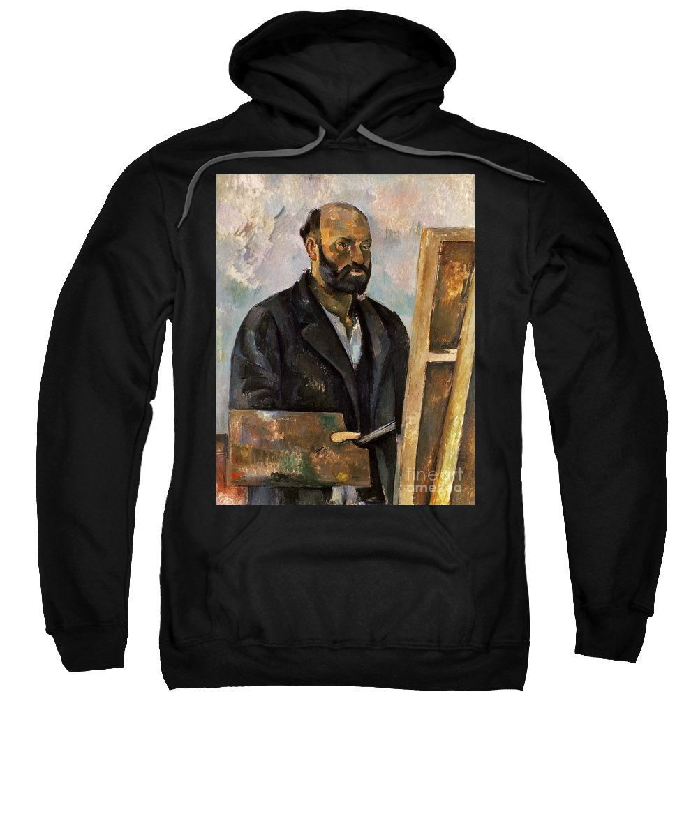 1885 Sweatshirt featuring the photograph Paul Cezanne (1839-1906) by Granger
