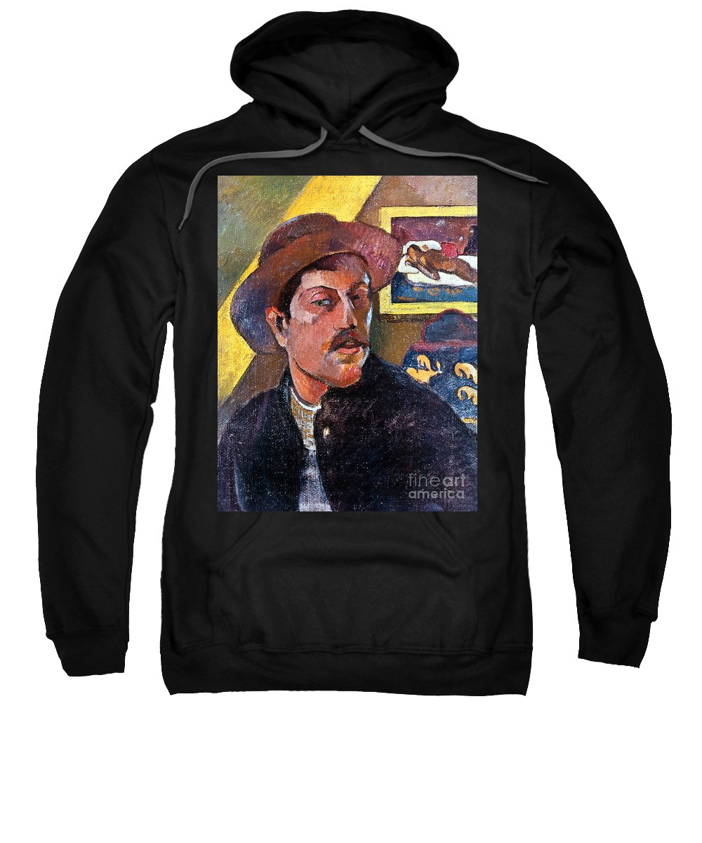 1893 Sweatshirt featuring the photograph Paul Gaugin (1848-1903) by Granger