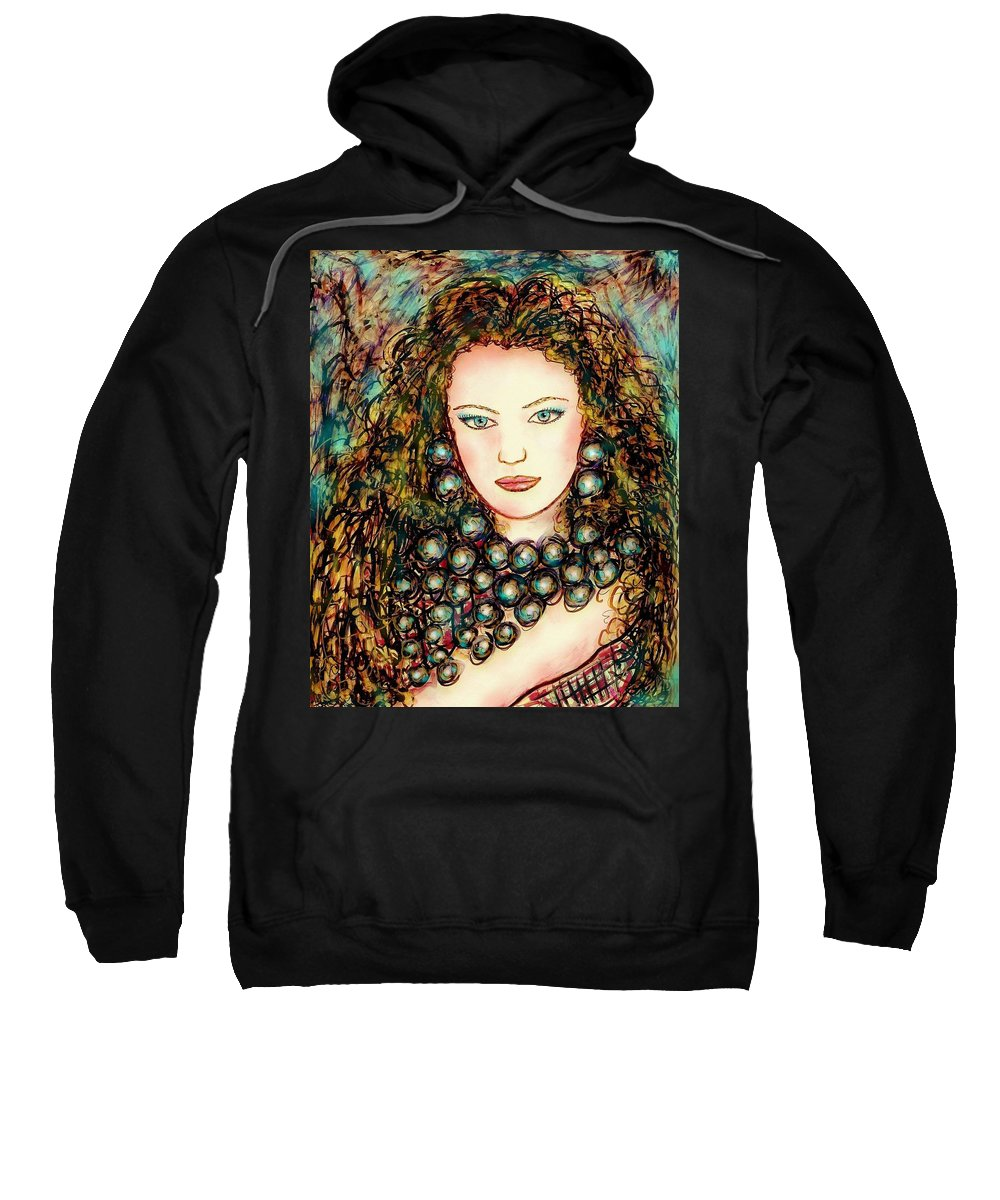 Woman Sweatshirt featuring the painting Paula by Natalie Holland
