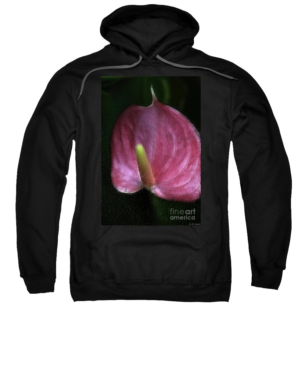 Sweatshirt featuring the photograph Peace-lilly-pink by Deborah Benoit