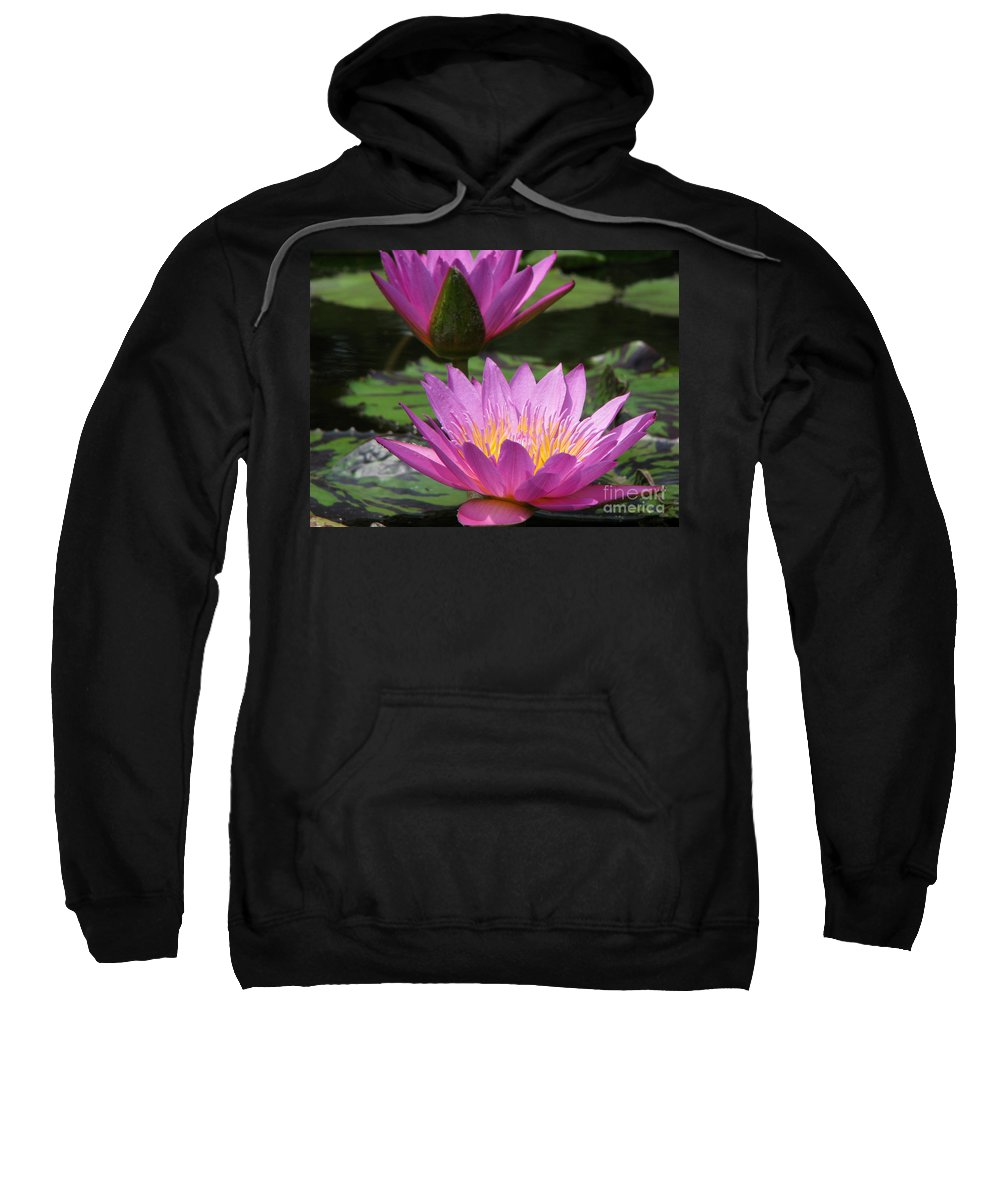Lillypad Sweatshirt featuring the photograph Peaceful by Amanda Barcon