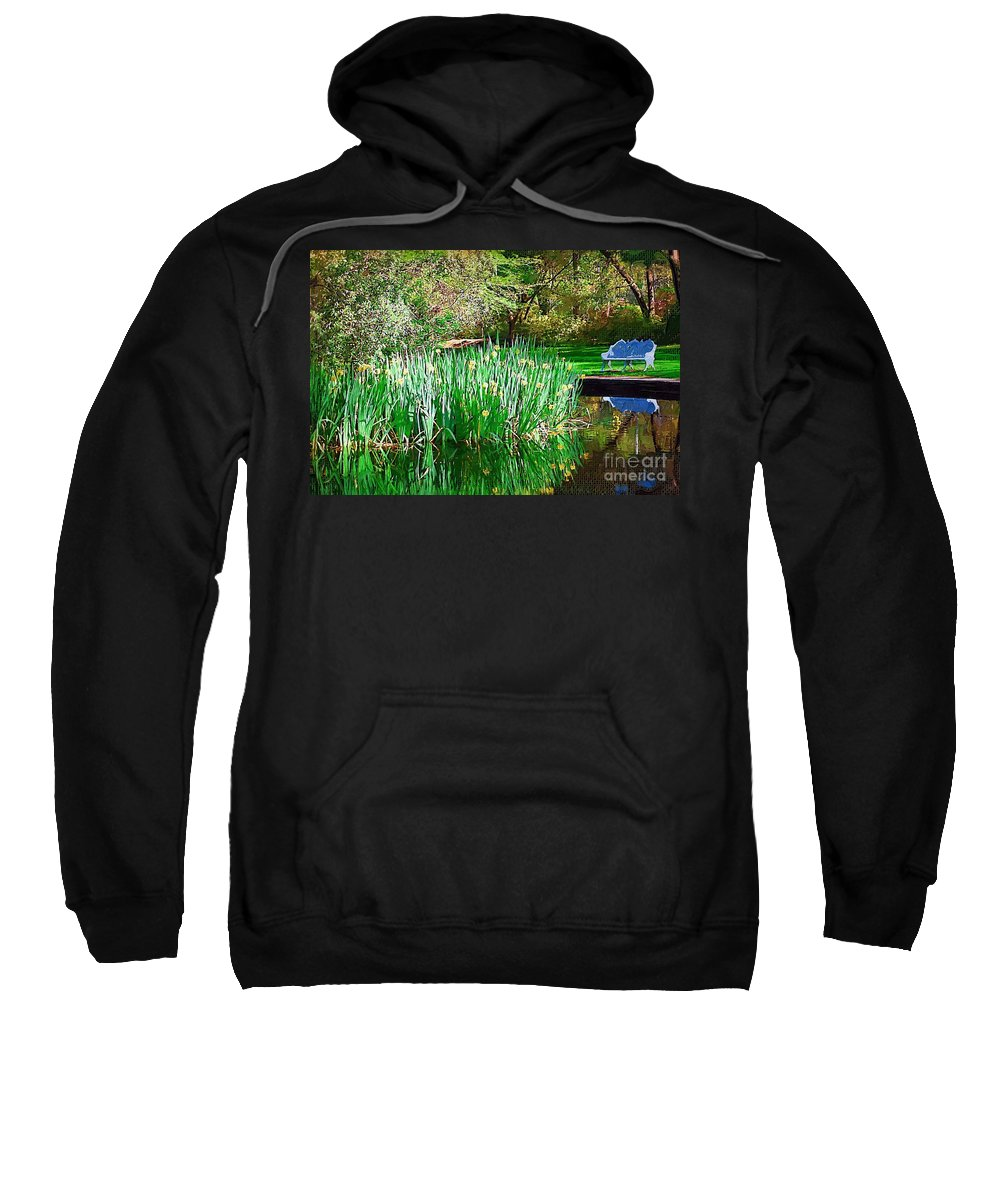 Pond Sweatshirt featuring the photograph Peaceful by Donna Bentley
