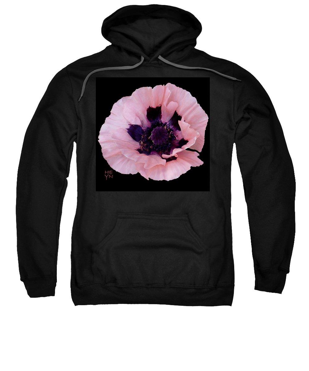 Cutout Sweatshirt featuring the photograph Peach Poppy - Cutout by Shirley Heyn