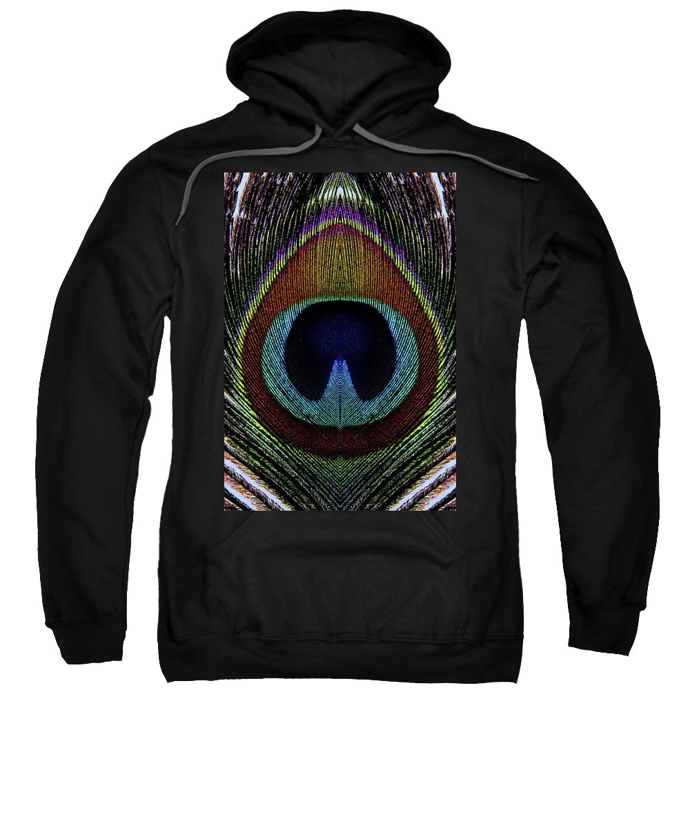 Photograph Sweatshirt featuring the photograph Peacock 1 by Stormshade Designs