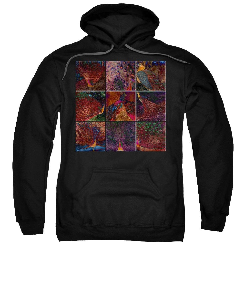 Birds Sweatshirt featuring the digital art Peacocks by Barbara Berney