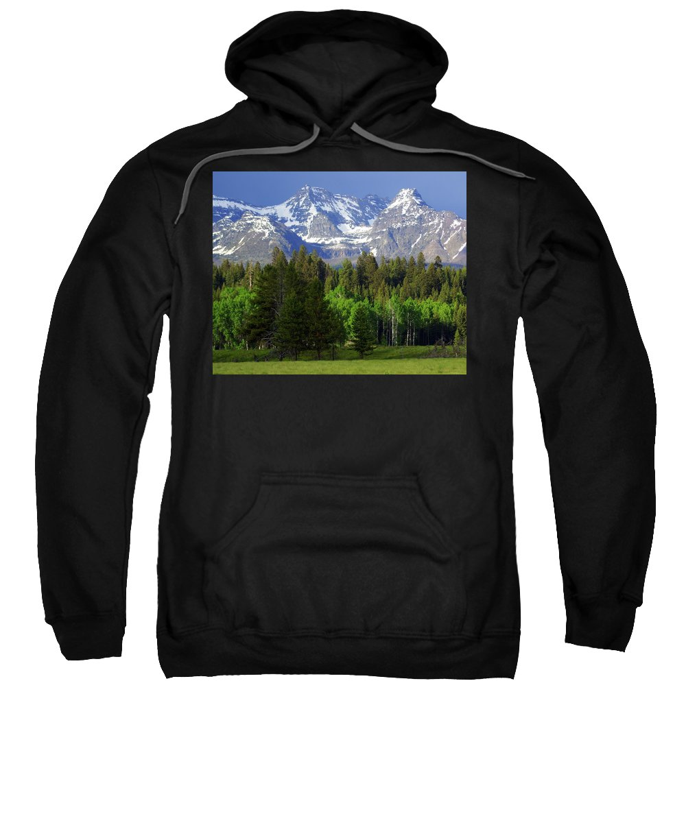 Mountains Sweatshirt featuring the photograph Peaks by Marty Koch