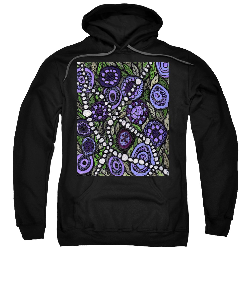 Abstract Sweatshirt featuring the painting Pearls In The Garden by Wayne Potrafka