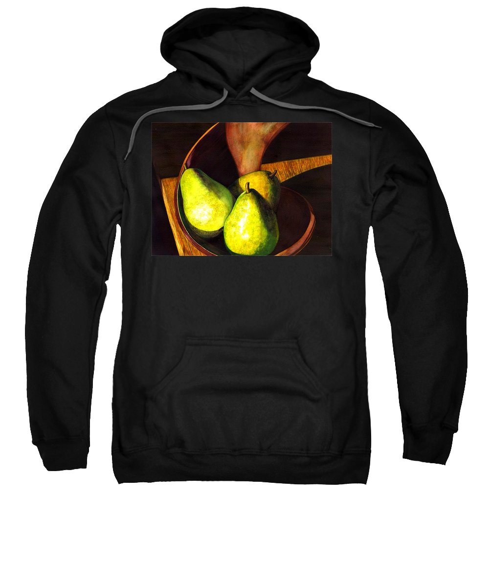 Still Life Sweatshirt featuring the painting Pears No 1 by Catherine G McElroy
