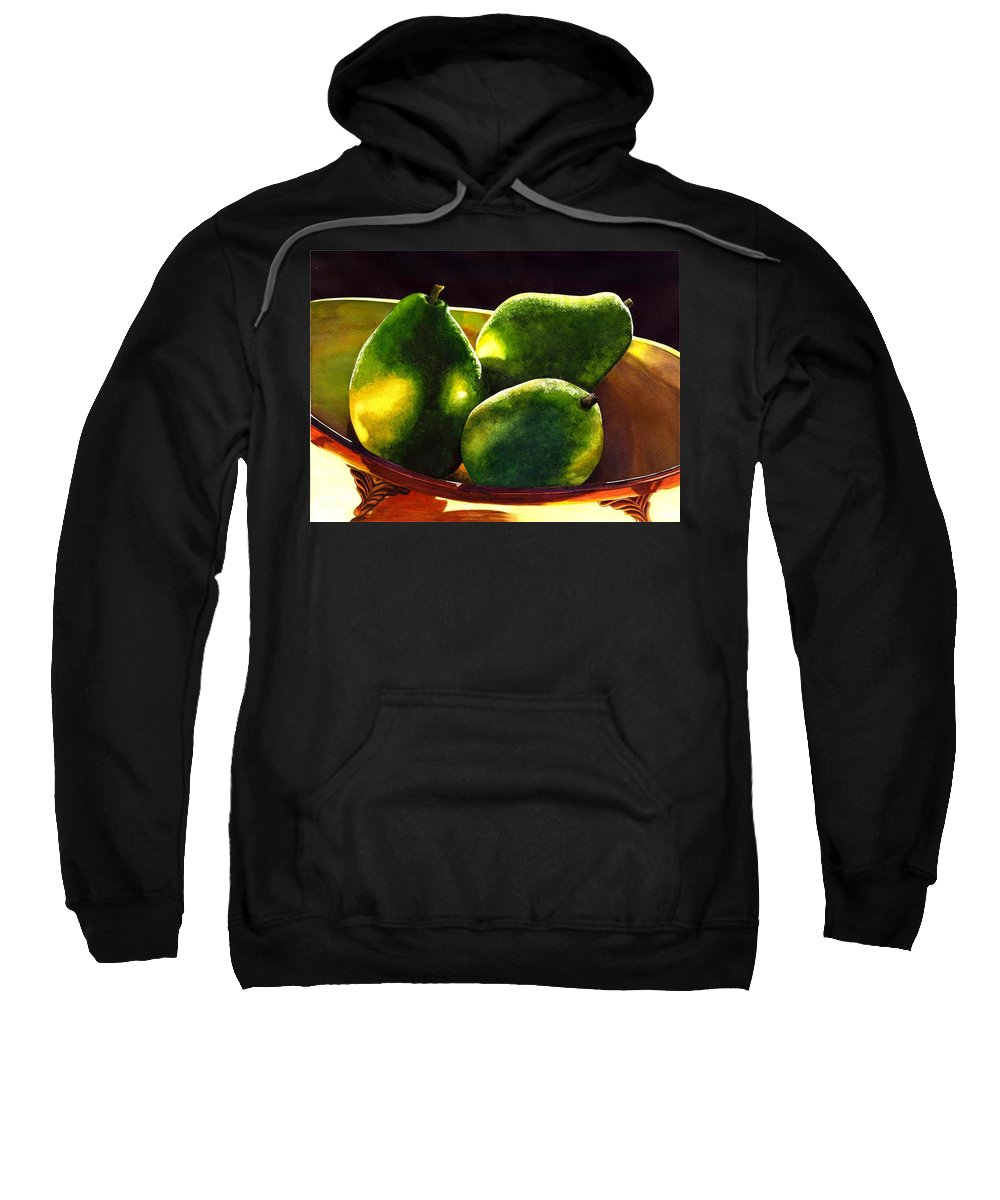 Still Life Sweatshirt featuring the painting Pears No 2 by Catherine G McElroy