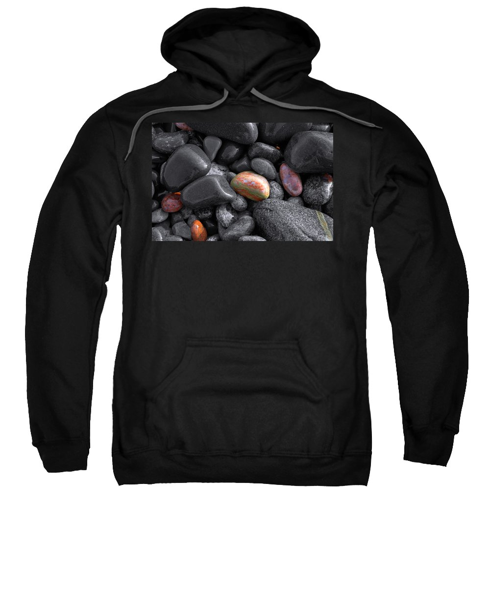 Lake Superior Sweatshirt featuring the photograph Pebble Jewels  by Doug Gibbons