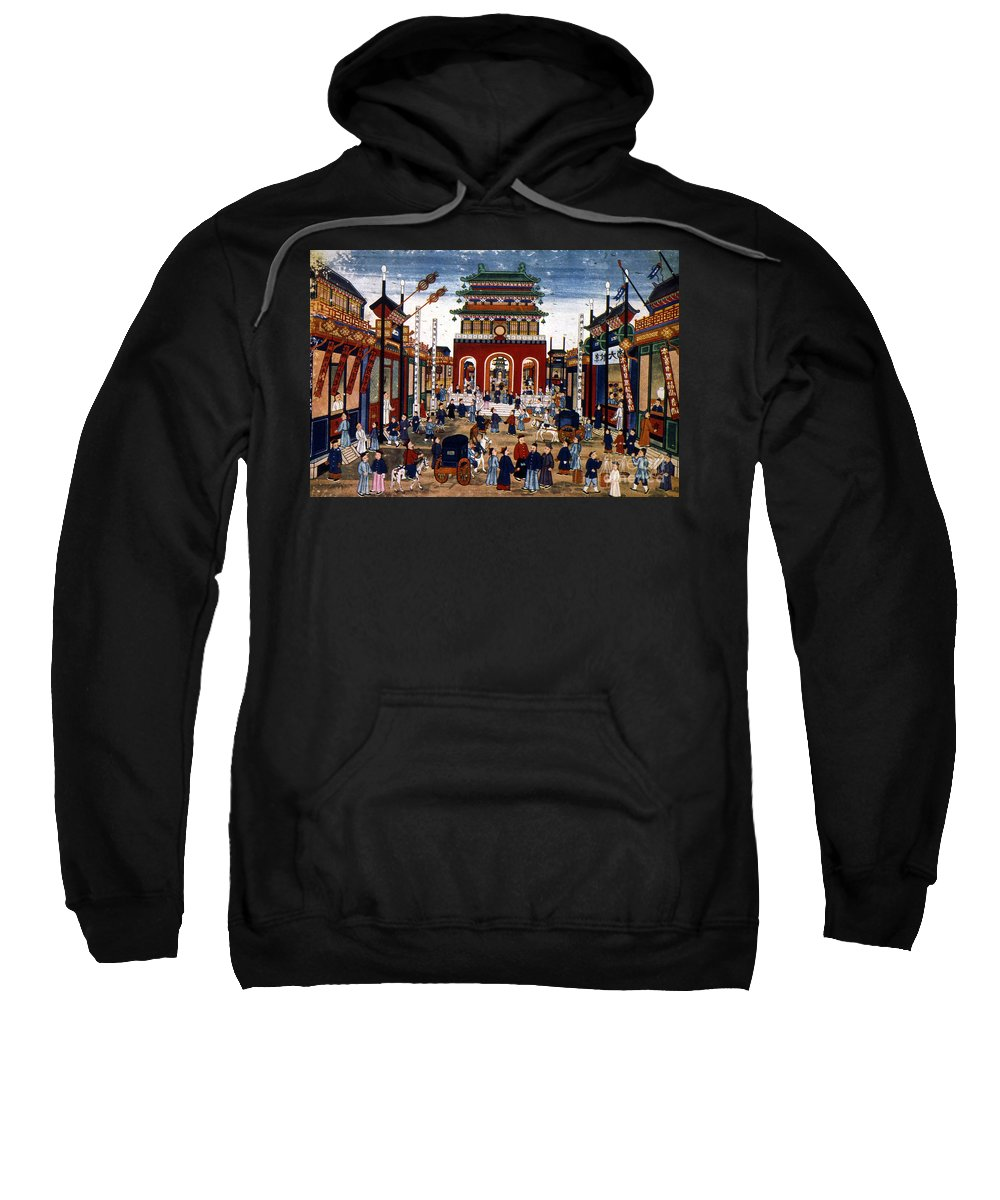 1840s Sweatshirt featuring the photograph Peking: Commercial Center by Granger