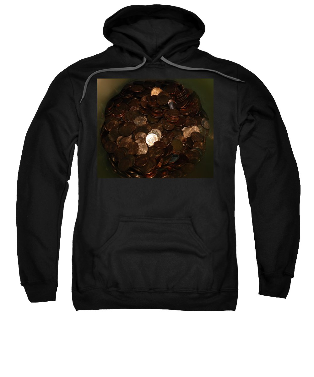 Pennies Sweatshirt featuring the photograph Pennies by Rob Hans