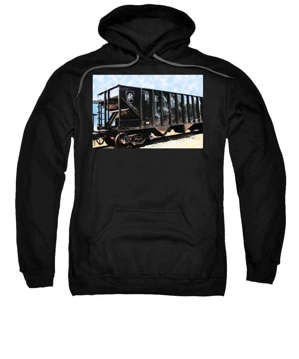 Trains Sweatshirt featuring the photograph Pennsylvania Hopper by RC DeWinter