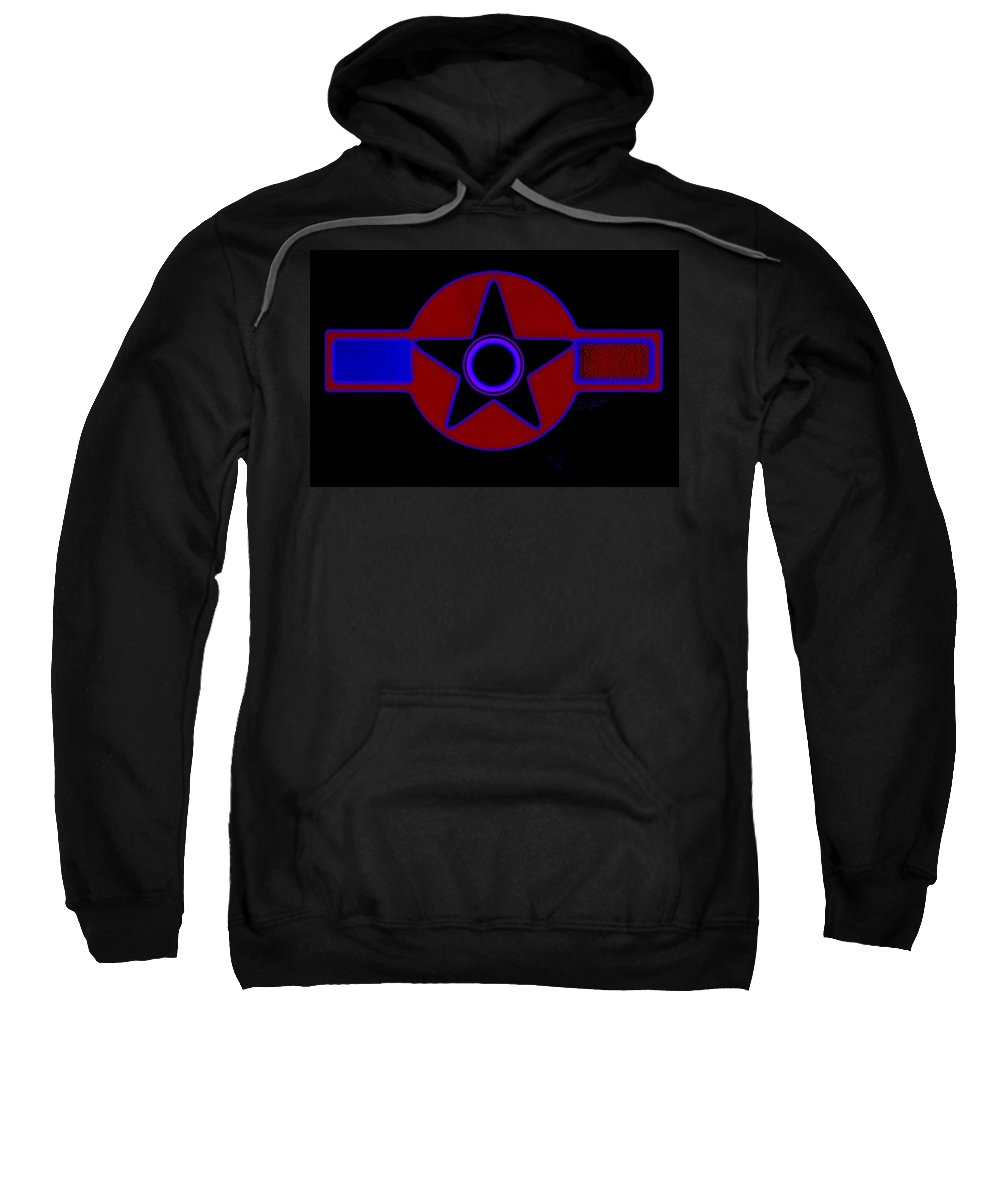 Usaaf Sweatshirt featuring the painting Pentagram In Red by Charles Stuart