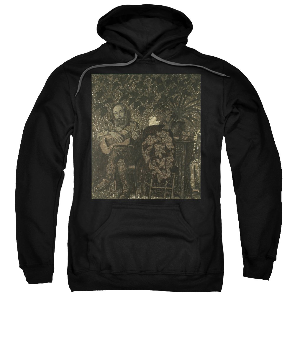 People Sweatshirt featuring the painting Three Persons by Robert Nizamov