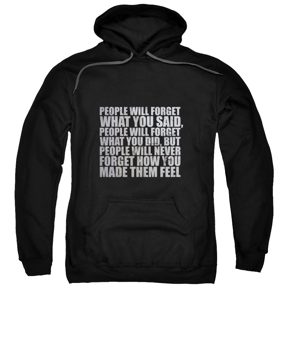 Maria Mixed Media Hooded Sweatshirts T-Shirts