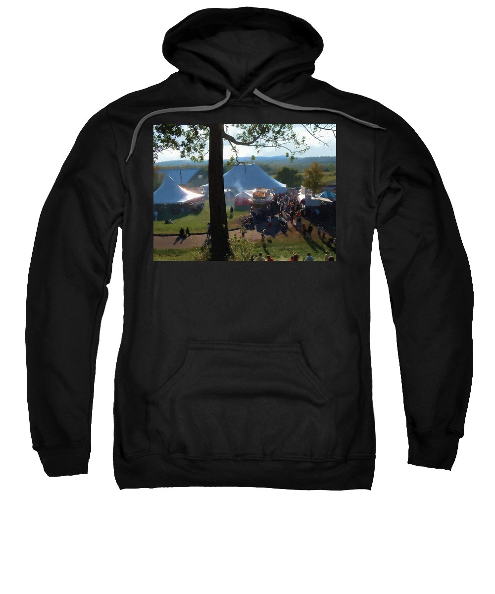 Afternoon Sweatshirt featuring the painting Perfect Fair Weather by RC DeWinter