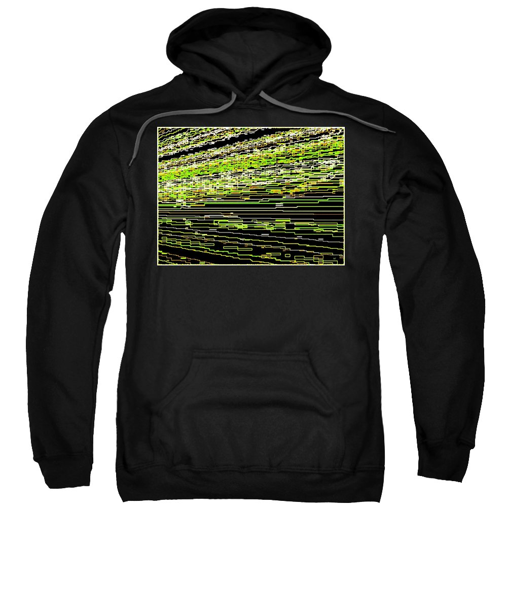 Abstract Sweatshirt featuring the digital art Perfect Resonance by Will Borden