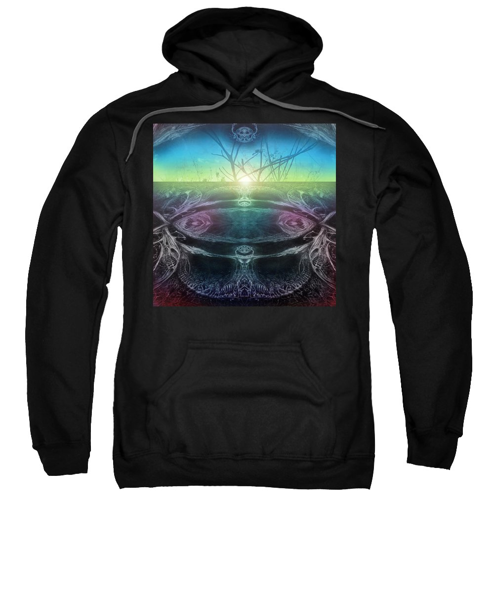 Digital Sweatshirt featuring the digital art Perpetual Motion Landscape by Otto Rapp