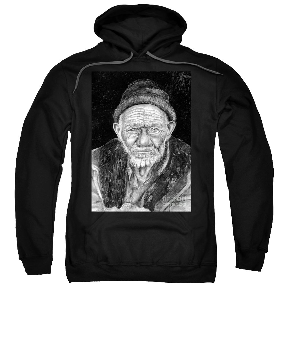 Figurative Painting Sweatshirt featuring the painting Perserverance by Portraits By NC