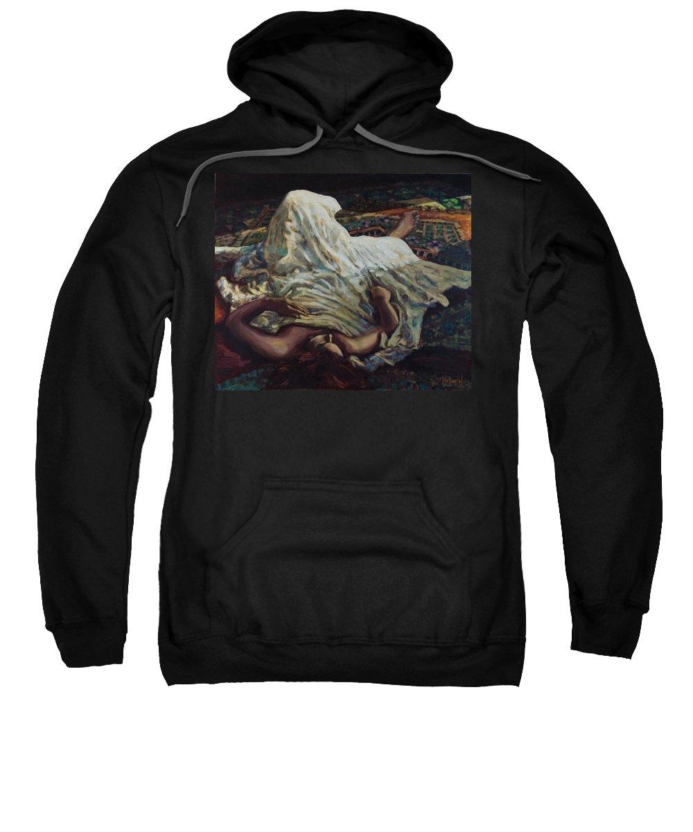 Figurative Sweatshirt featuring the painting Persian Rugs by Rick Nederlof