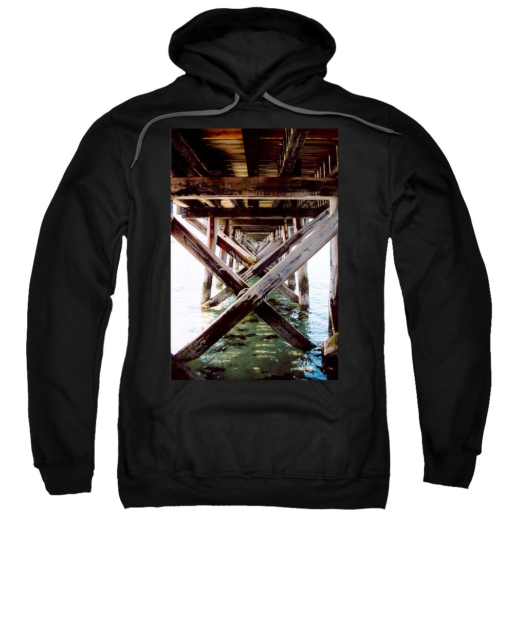 Dock Sweatshirt featuring the photograph Perspective I by Greg Fortier