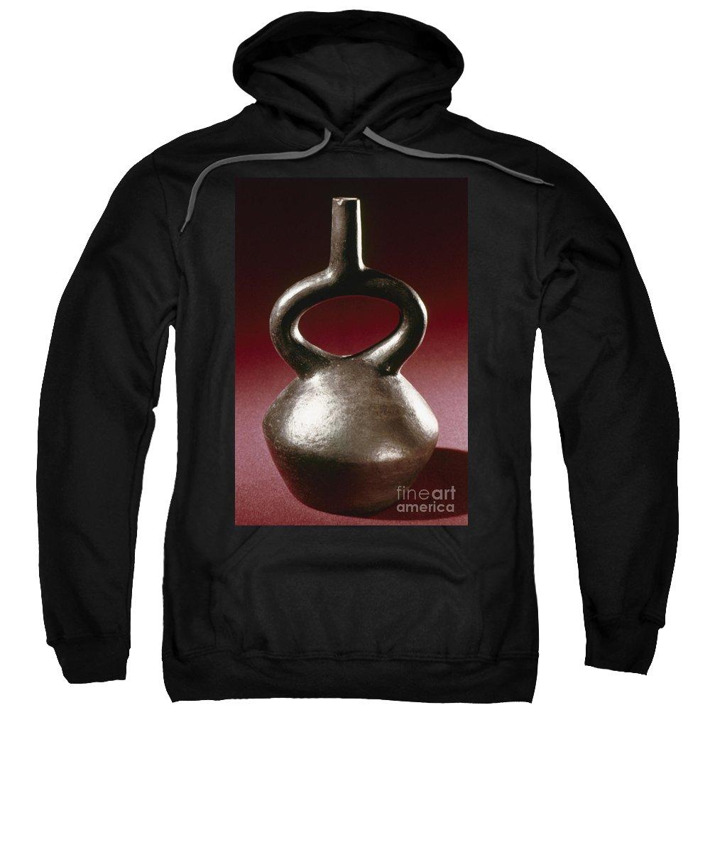 13th Century Sweatshirt featuring the photograph Peru: Chimu Jar by Granger