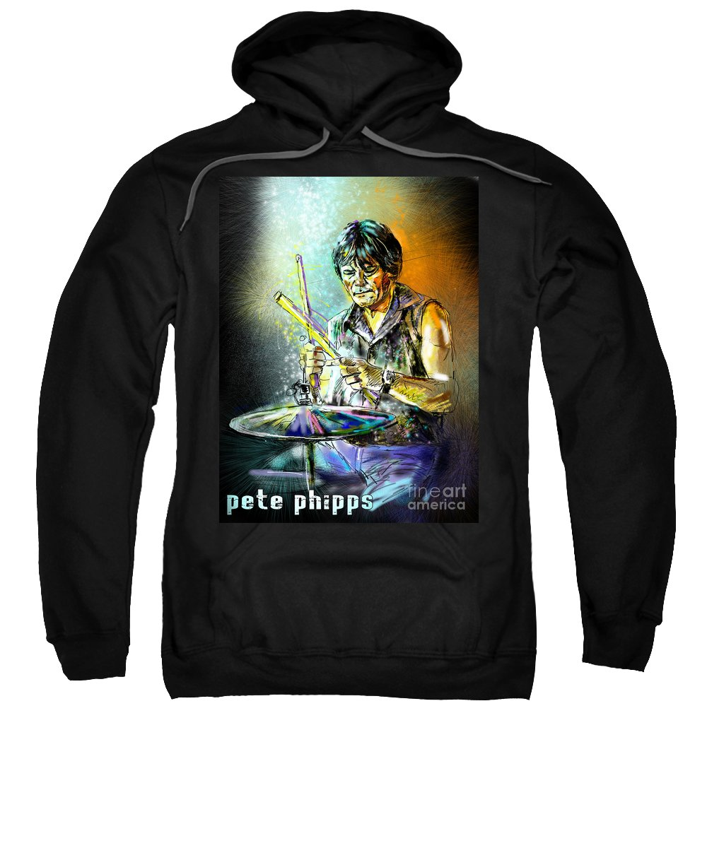 Pete Phipps Portrait Sweatshirt featuring the digital art Pete Phipps by Miki De Goodaboom