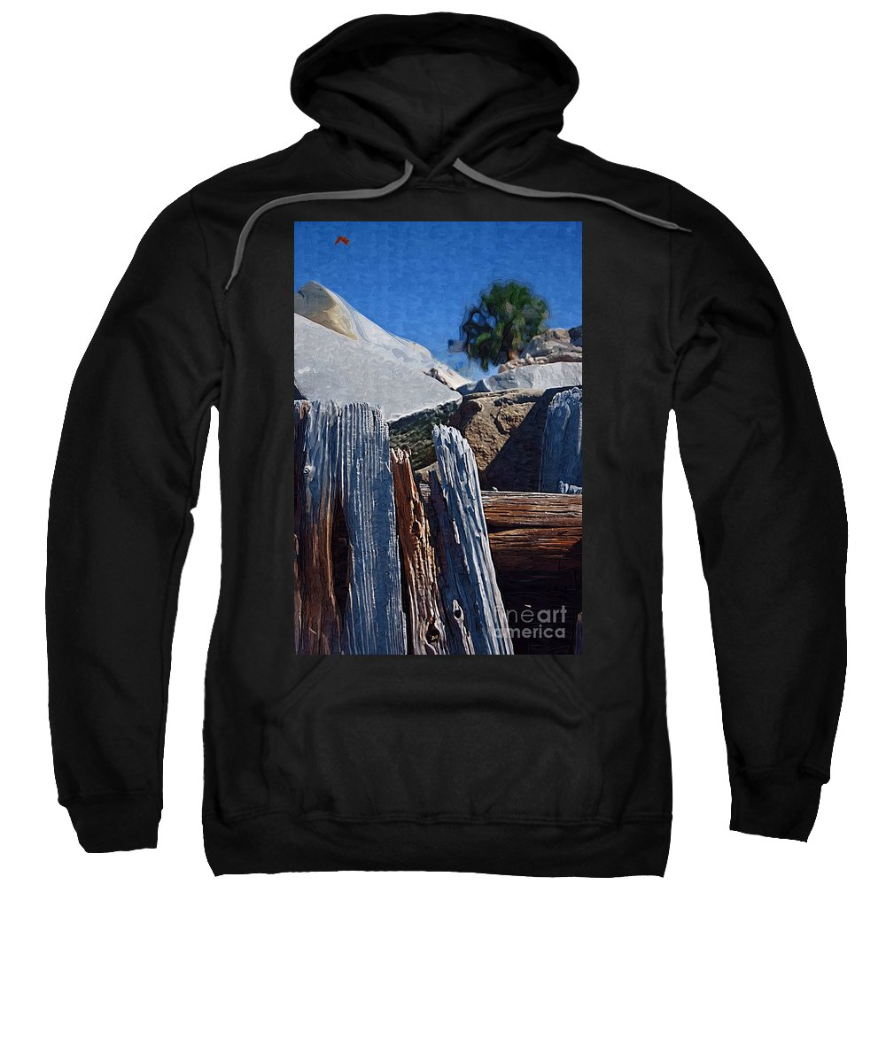 Petrified Wood Sweatshirt featuring the photograph Petrified Wood by Donna Bentley