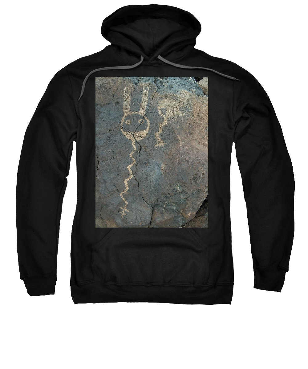 Petroglyph Sweatshirt featuring the photograph Petroglyph Series 1 by Tim McCarthy