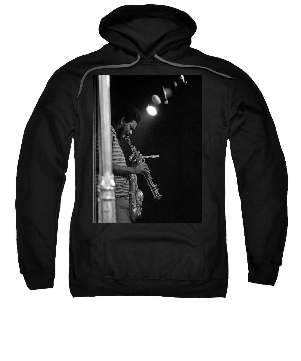 Pharoah Sanders Sweatshirt featuring the photograph Pharoah Sanders 1 by Lee Santa