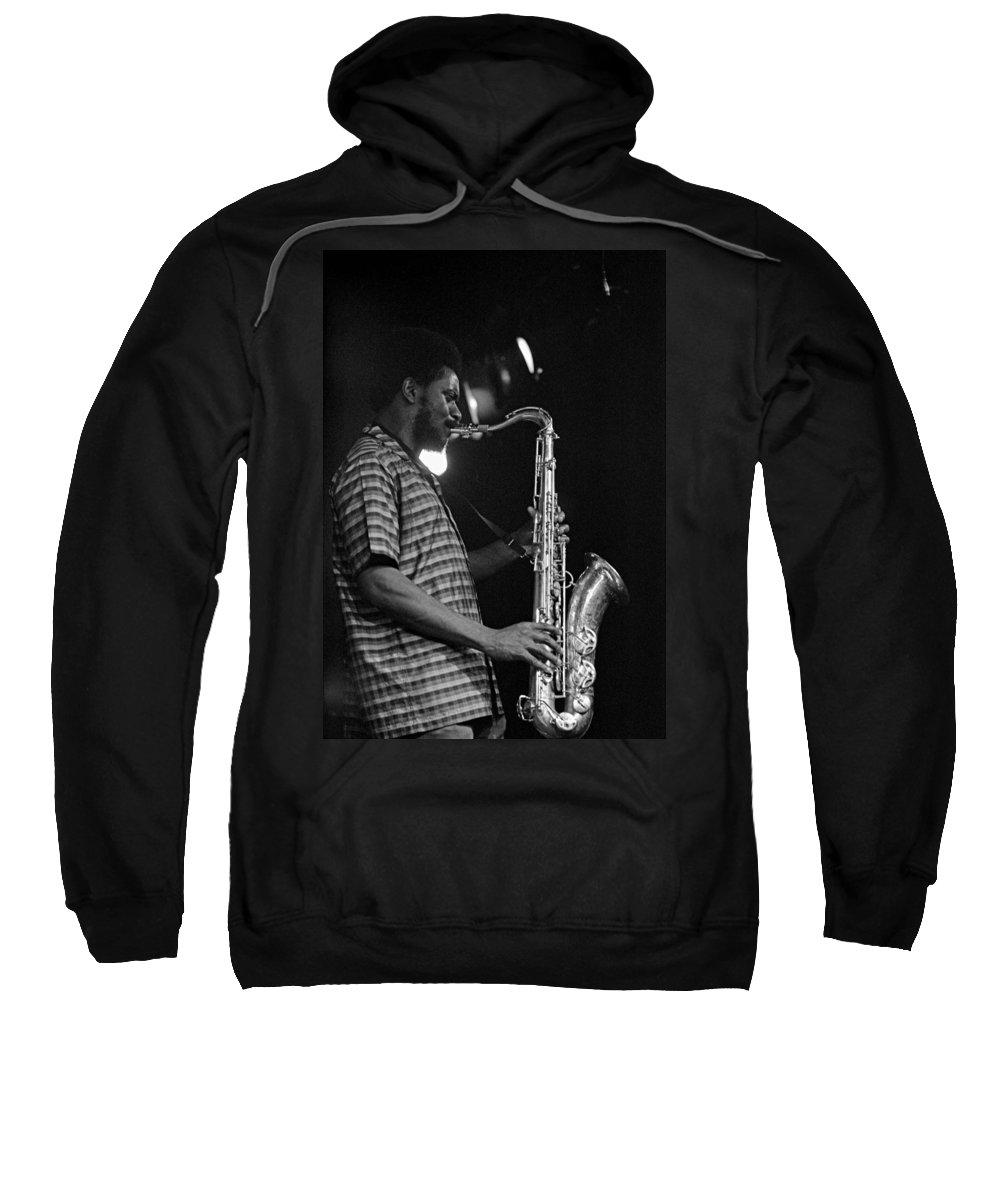 Pharoah Sanders Sweatshirt featuring the photograph Pharoah Sanders 2 by Lee Santa