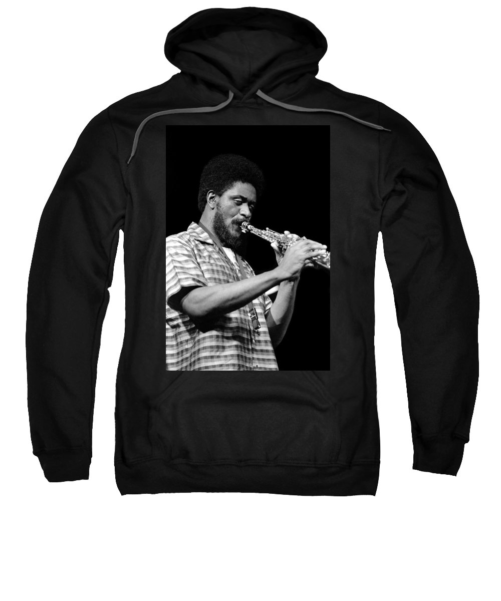 Pharoah Sanders Sweatshirt featuring the photograph Pharoah Sanders 3 by Lee Santa